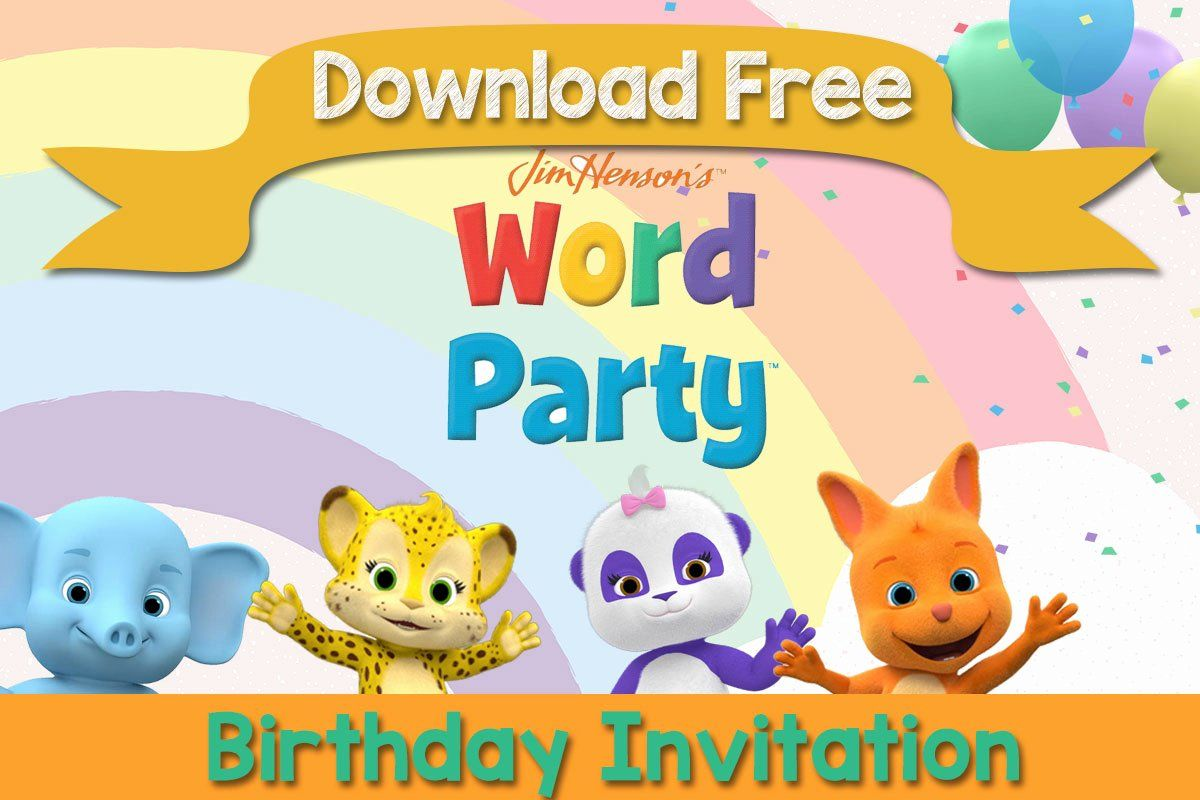 Word Party Invitation Template Luxury Free Printable Word Party Invitat In 2020 Party Invite Template Free Printable Birthday Invitations Birthday Invitation Templates