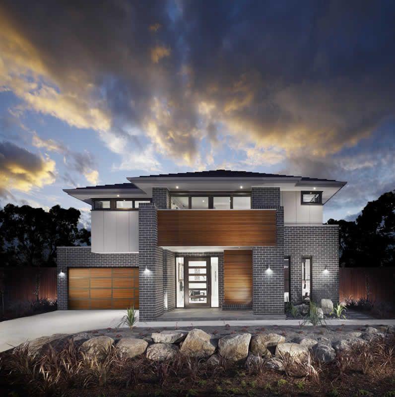Exterior House Design Programs: Wooden Door, Garage Door And Exterior Feature.