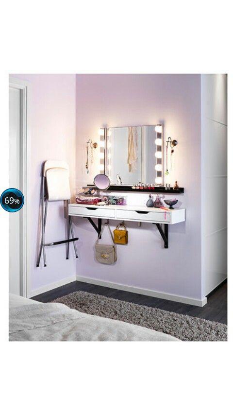 Schminkecke by IKEA Zimmer einrichten, Schubladen regal