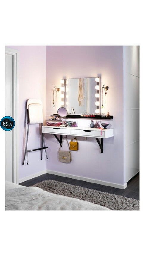 Schminkecke by ikea kinderzimmer for Ikea kleines schlafzimmer