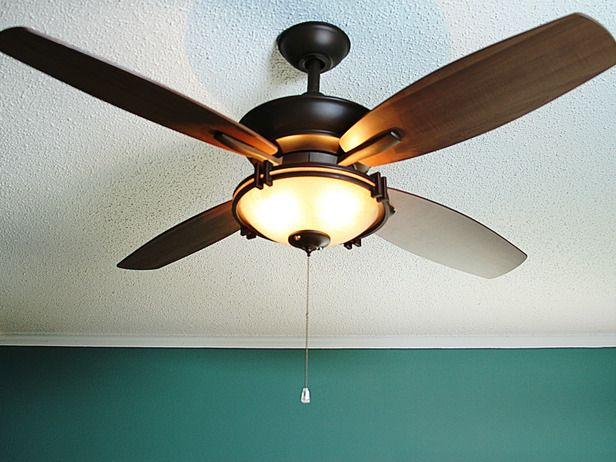 How to install a ceiling fan including bracing the fan without attic access