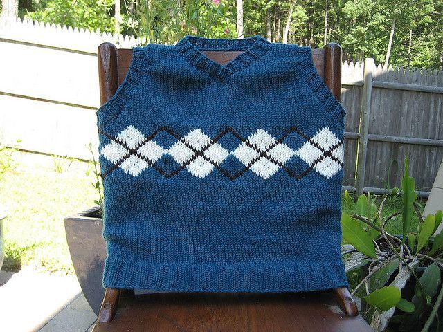 baby argyle sweater vest pattern | Kids sweater pattern ...