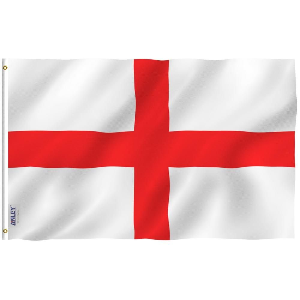Anley Fly Breeze 3 Ft X 5 Ft Polyester England Flag 2 Sided Flags Banner With Brass Grommets And Canvas Header A Flag England The Home Depot England Flag English Flag Red And White