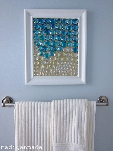 Www Oakfurnituresolutions Co Uk Diy Bathroom Art Like And Repin Diy Wall Art Glass Gems Diy Wall