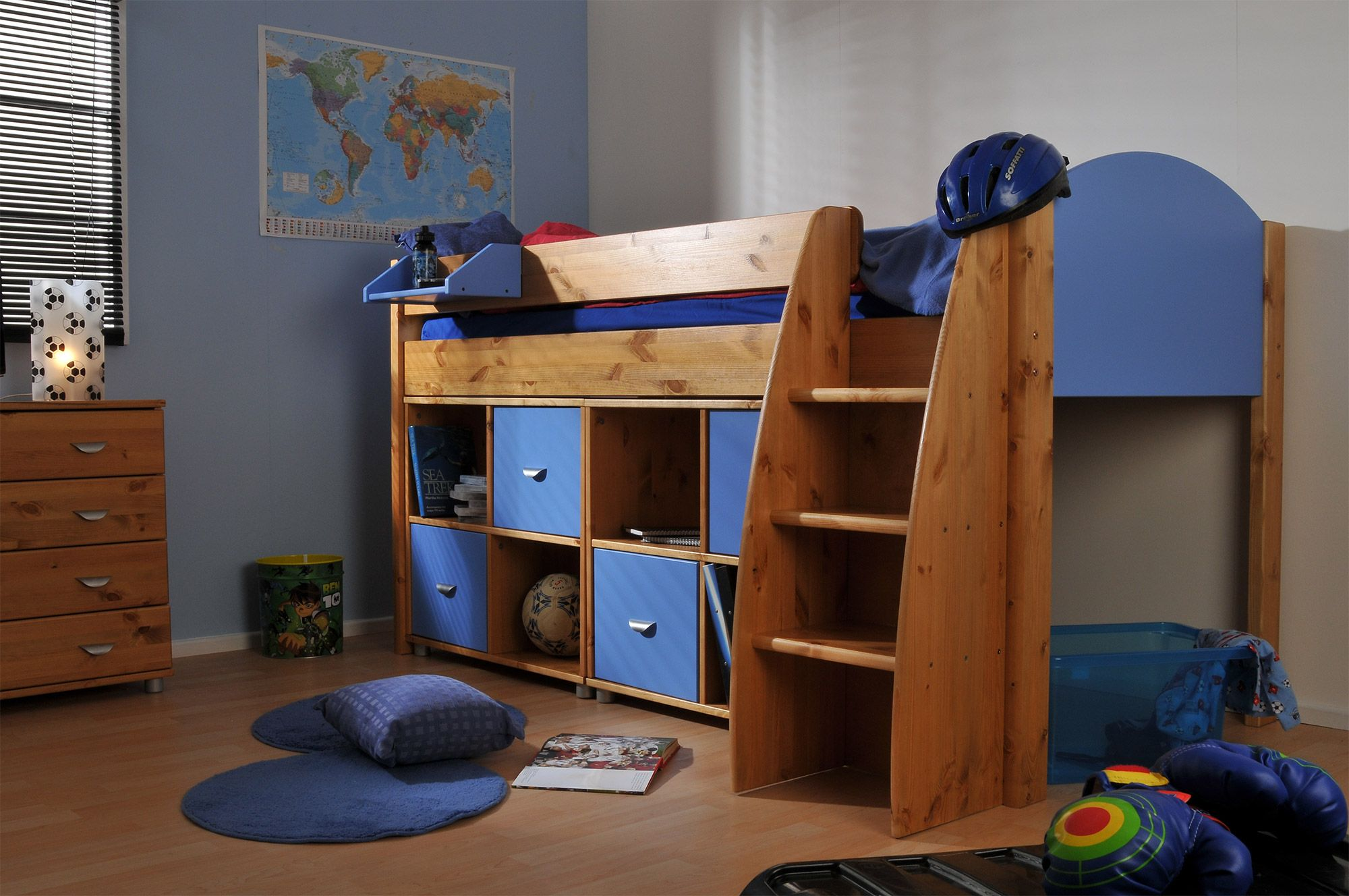 Boys\u0027 Stompa Rondo Cabin Bed - A great solid space saving cabin bed for any boy. Easy to climb steps and spacious under bed storage. & Stompa Rondo 6 Cabin Bed | Inspiration: boys beds | Pinterest | Bed ...