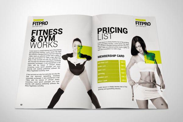 Fitness Gym Brochure By Andrzej Grzesiak Via Behance  Gym