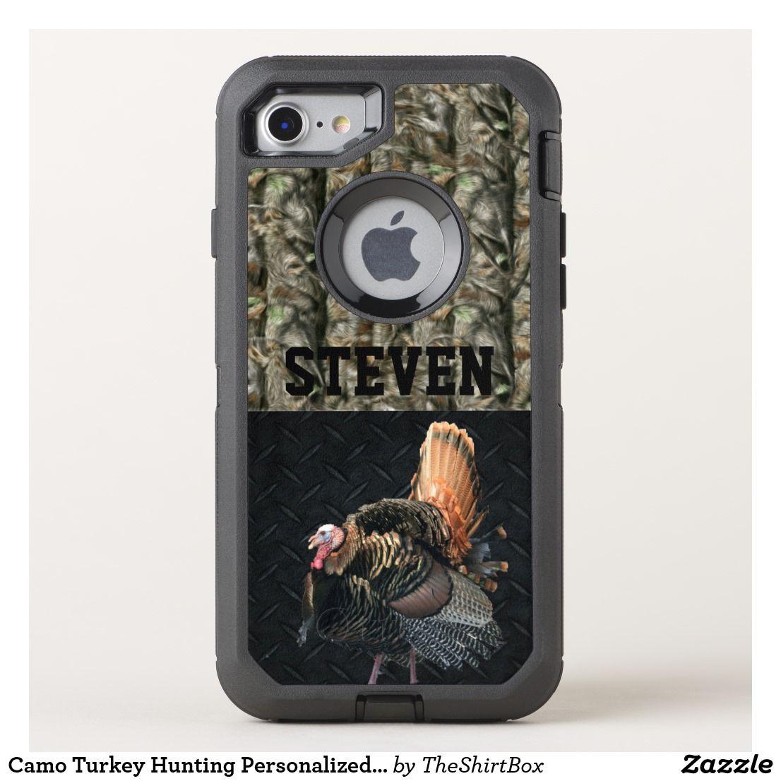 Camo turkey hunting name sports men hobby otterbox iphone