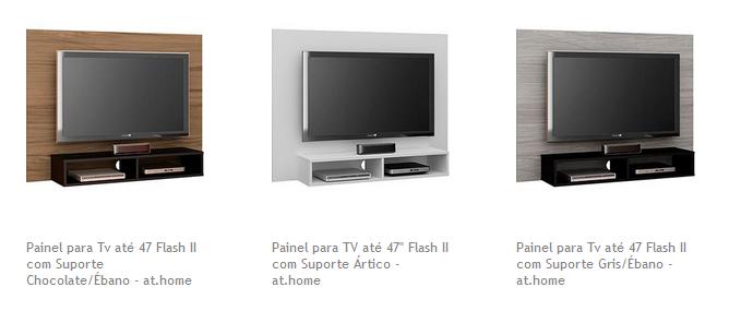 Painel para Tv até 47 Flash II com Suporte Classic Home - 4 Cores Disponíveis << R$ 8791 >>