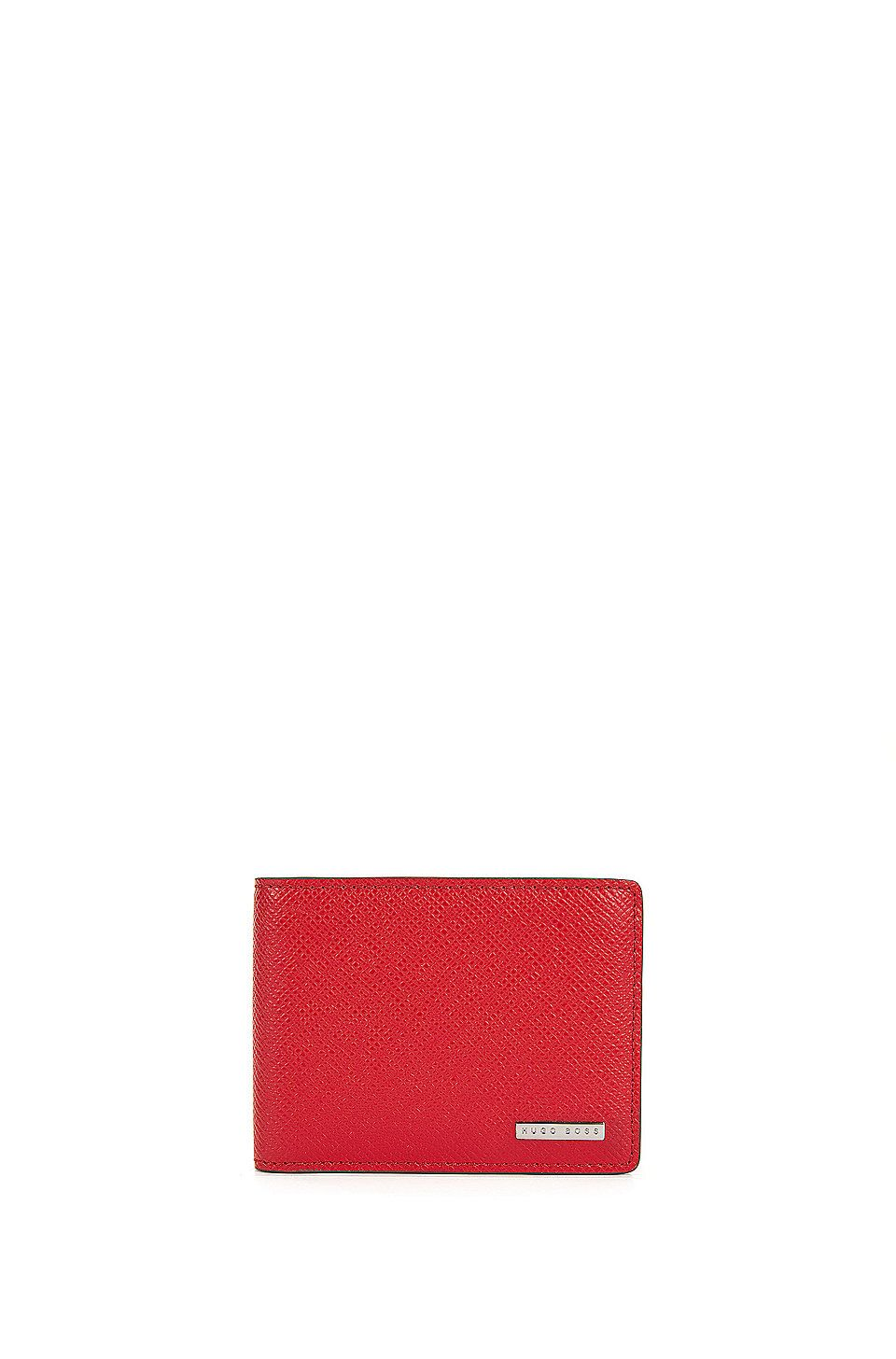 80bb46787e HUGO BOSS Signature Collection wallet in palmellato leather - Red Wallets  and Key Rings from BOSS for Men in the official HUGO BOSS Online Store free  ...