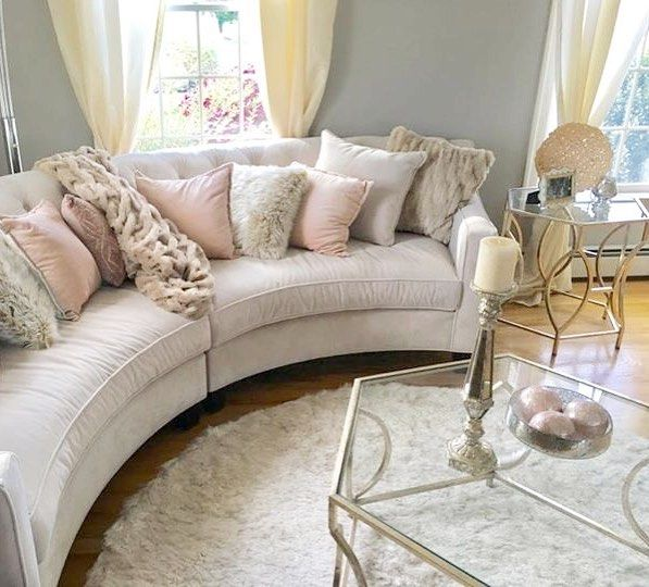 Beautiful Living Rooms On A Budget That Look Expensive: #ZGallerieMoment: Soft Blush Hues Ground Jillian's Living