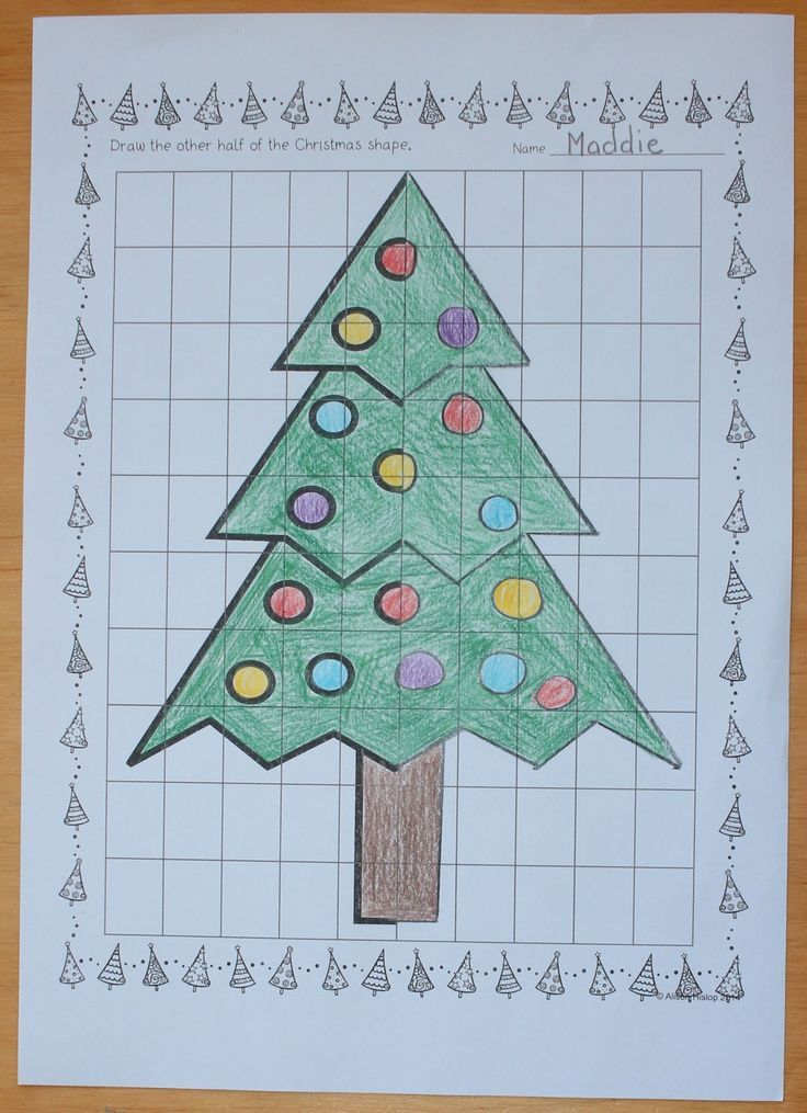 Christmas Patterns and Symmetry Worksheets   Math class, Math and ...