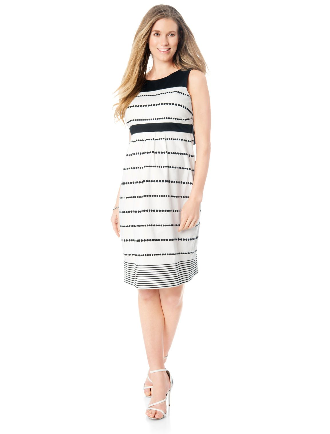 A classic silhouette for work or date night sleeveless pleated a classic silhouette for work or date night sleeveless pleated maternity dress by motherhood maternity ombrellifo Images