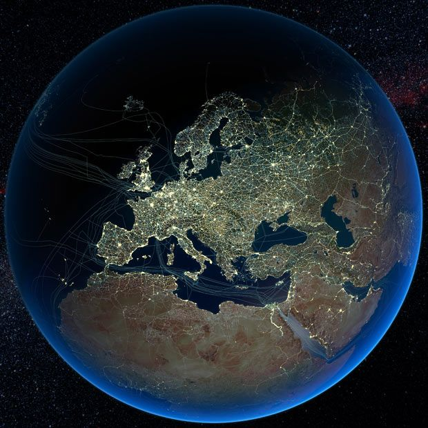Mapping Global Human Activity Earth At Night Night City Earth