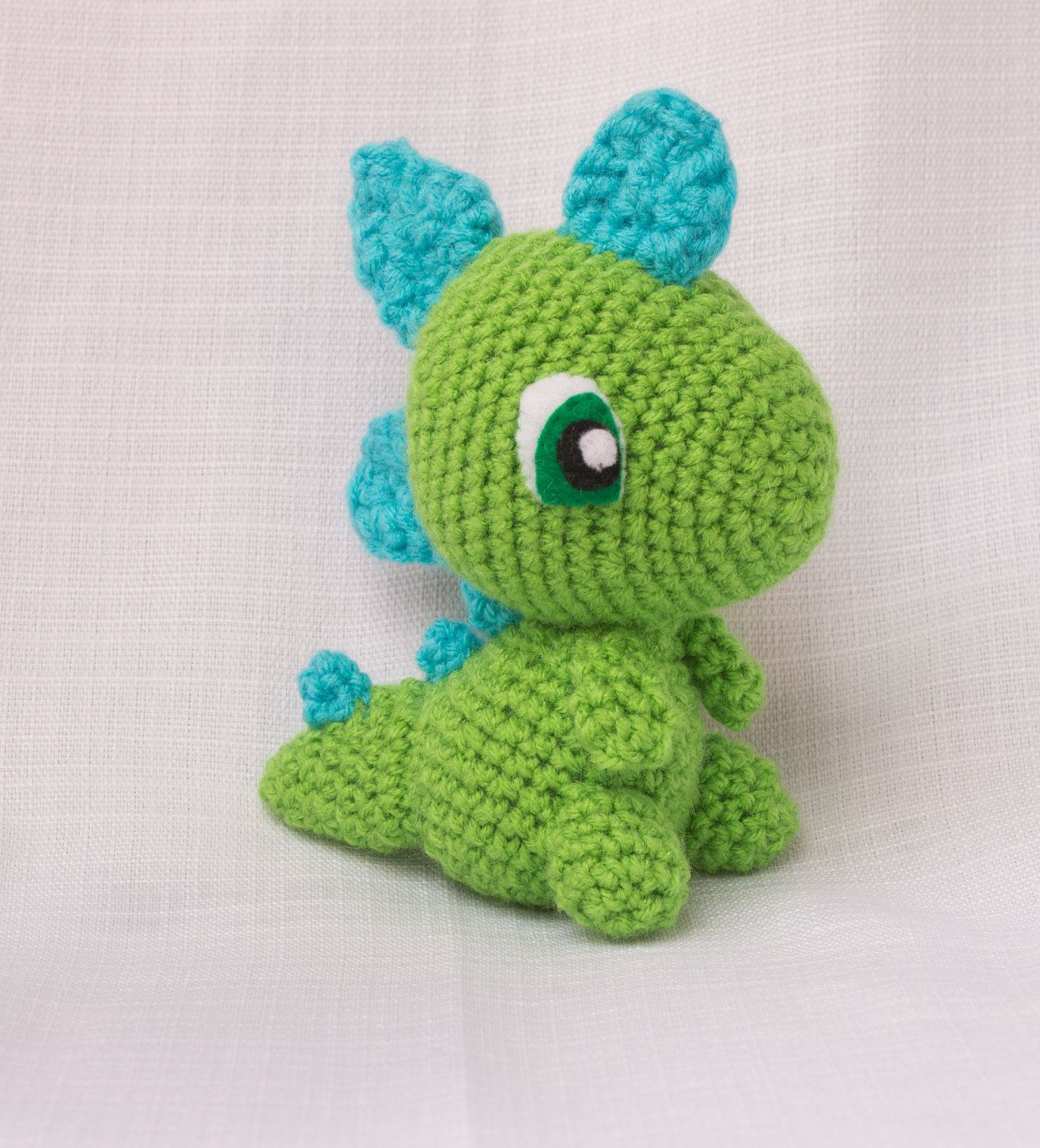 Dinosaur Stuffed Animal - Dinosaur Plush - Crochet Dinosaur - Custom ...