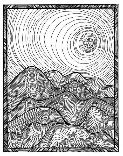 Contour Line Drawing Jio : Rolling hills contour lines using mass and volume