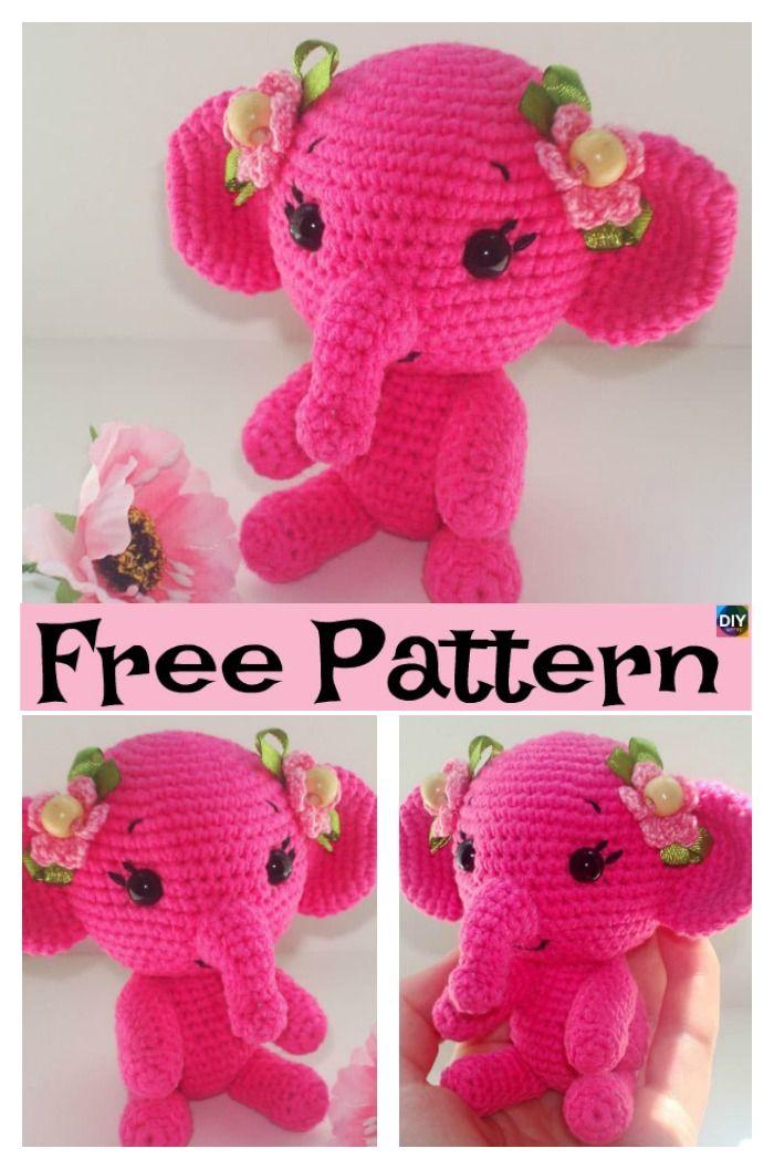 Crochet Amigurumi Elephant - Free Pattern #crochetelephantpattern