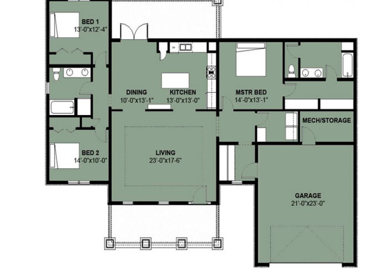 Simple 3 Bedroom House Plans Philippines Bungalow Floor Plans House Plans Australia House Plans