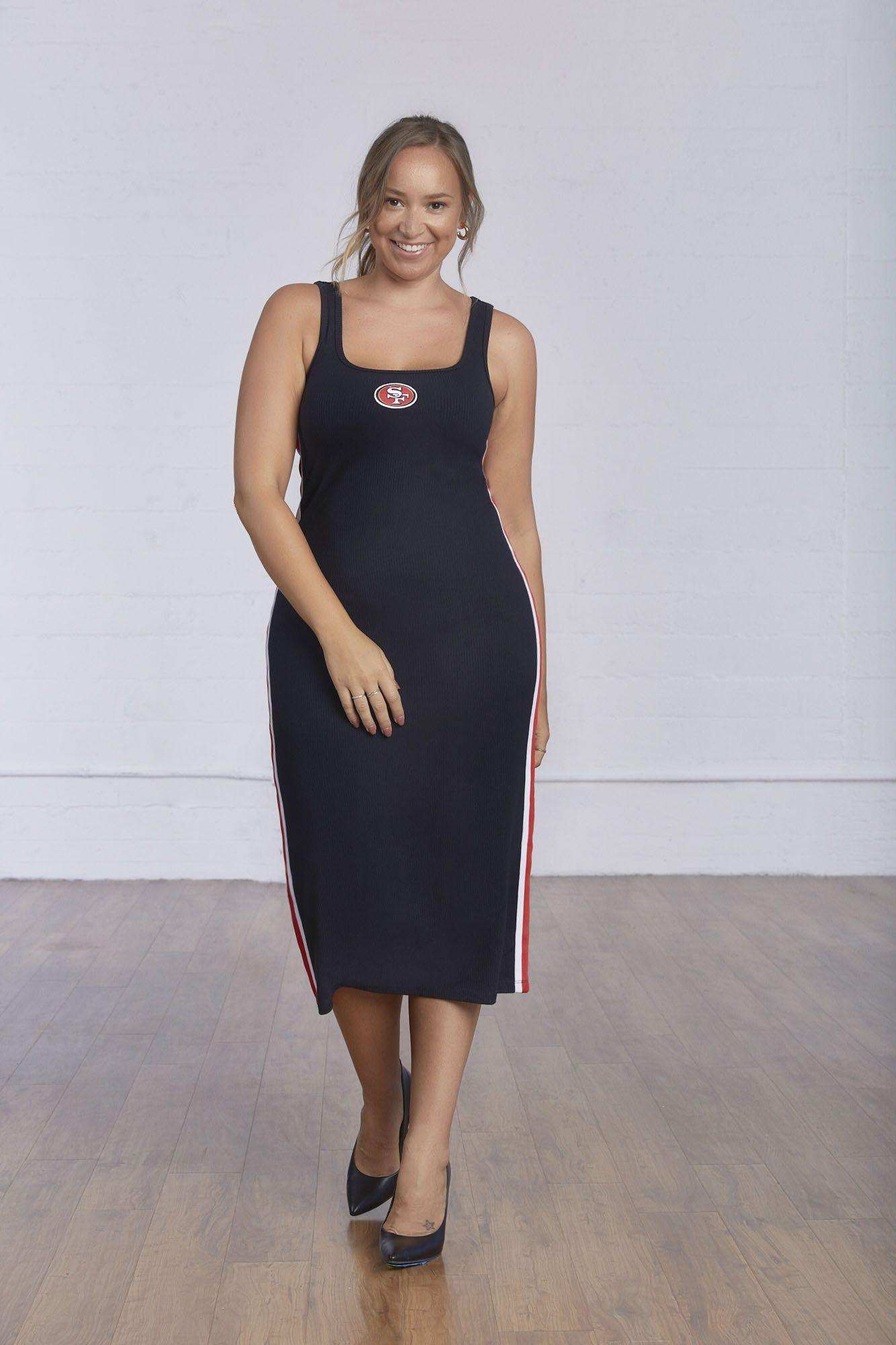 San Francisco 49ers Style Maxi Tank Dress Black Maxi Dress Dresses For Work [ 2000 x 1333 Pixel ]