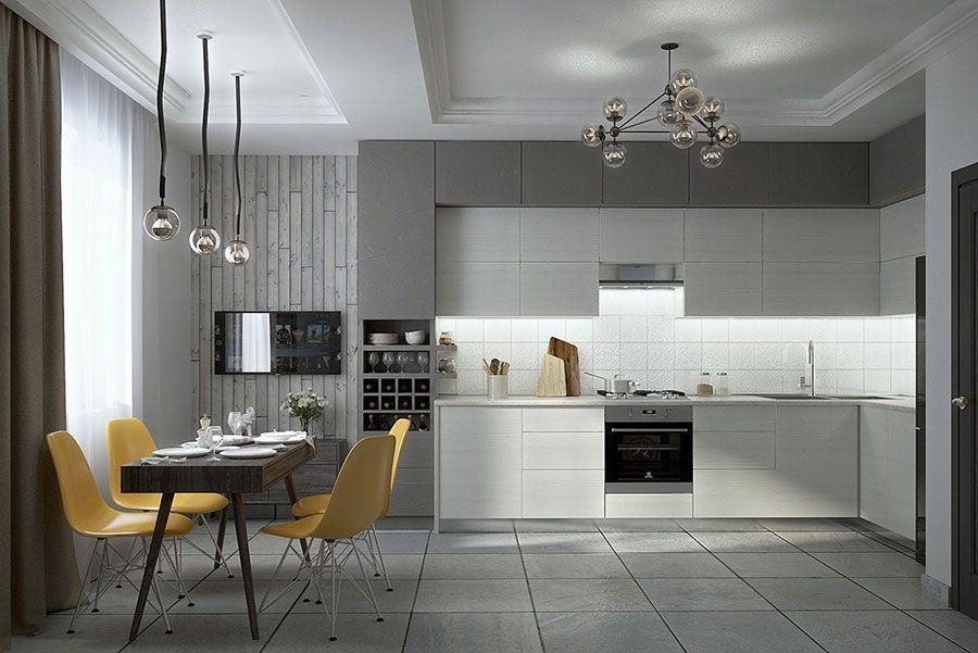 20 Modelli Di Cucine Bianche E Grigie Moderne Mondodesign It Progettazione Di Una Cucina Moderna Modello Di Cucina Contemporanea Cucine Contemporanee