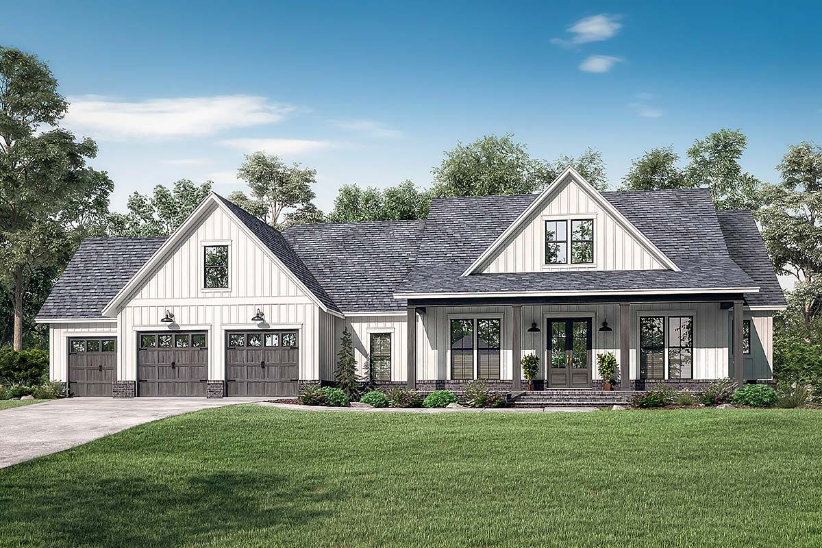 Southern Style House Plan 51999 With 4 Bed 4 Bath 3 Car Garage