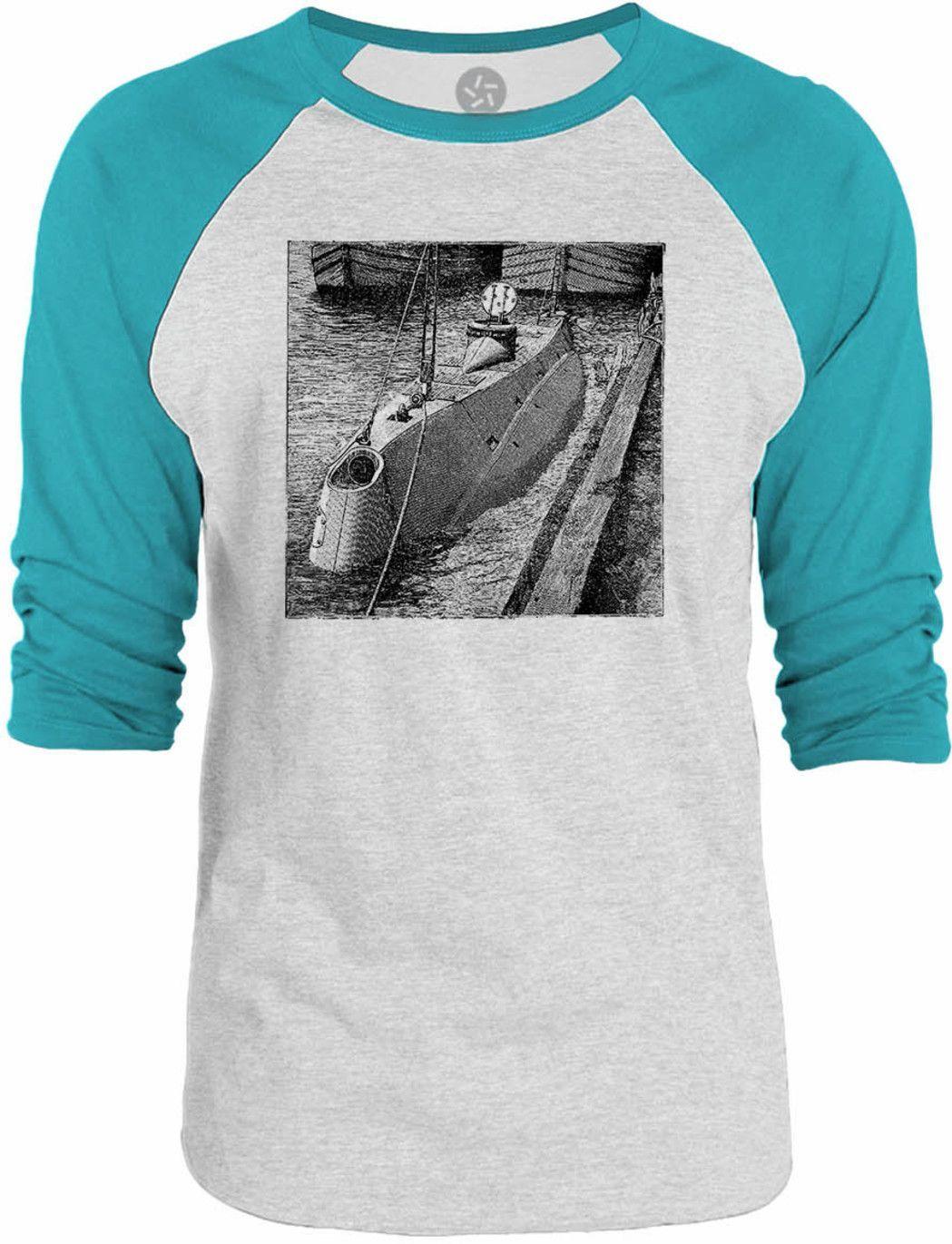 Big Texas Old Submarine 3/4-Sleeve Raglan Baseball T-Shirt