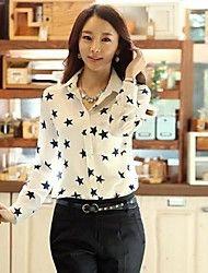 Women's Casual/Print Micro-elastic Long Sleeve Re... – USD $ 15.59