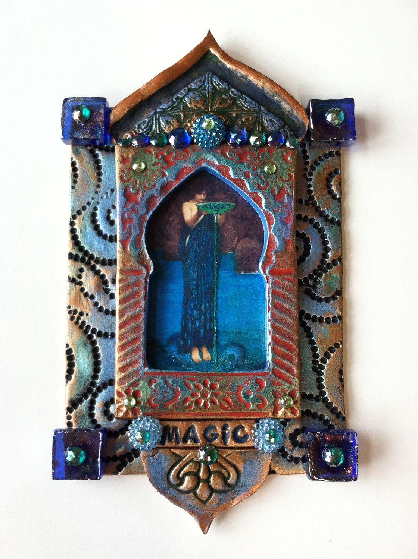Waterhouse Art Wicca Sorceress Pagan Priestess Circe Greek Goddess Of Magic  Altar Art Shrine Art Home Decor Ornament Mixed Media Mosaic