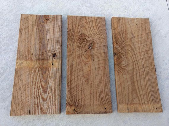 Set of 3 reclaimed 1x10 barn wood shelves, blank wood signs