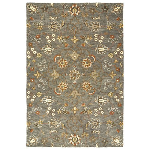 Kaleen Rugs 3215 102 912 Helena Hand Tufted 9 Ft X 12 Ft Rectangle Rug In Pewter Green Traditional Bellacor Kaleen Rugs Rugs Area Rugs
