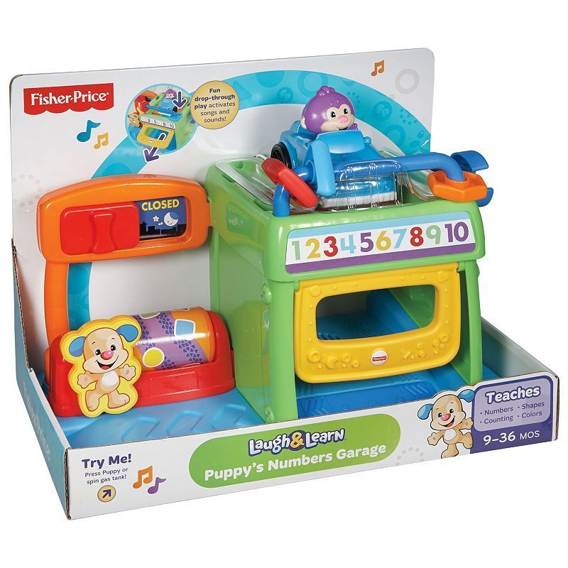 Fisherprice laugh learn puppys numbers garage fisher
