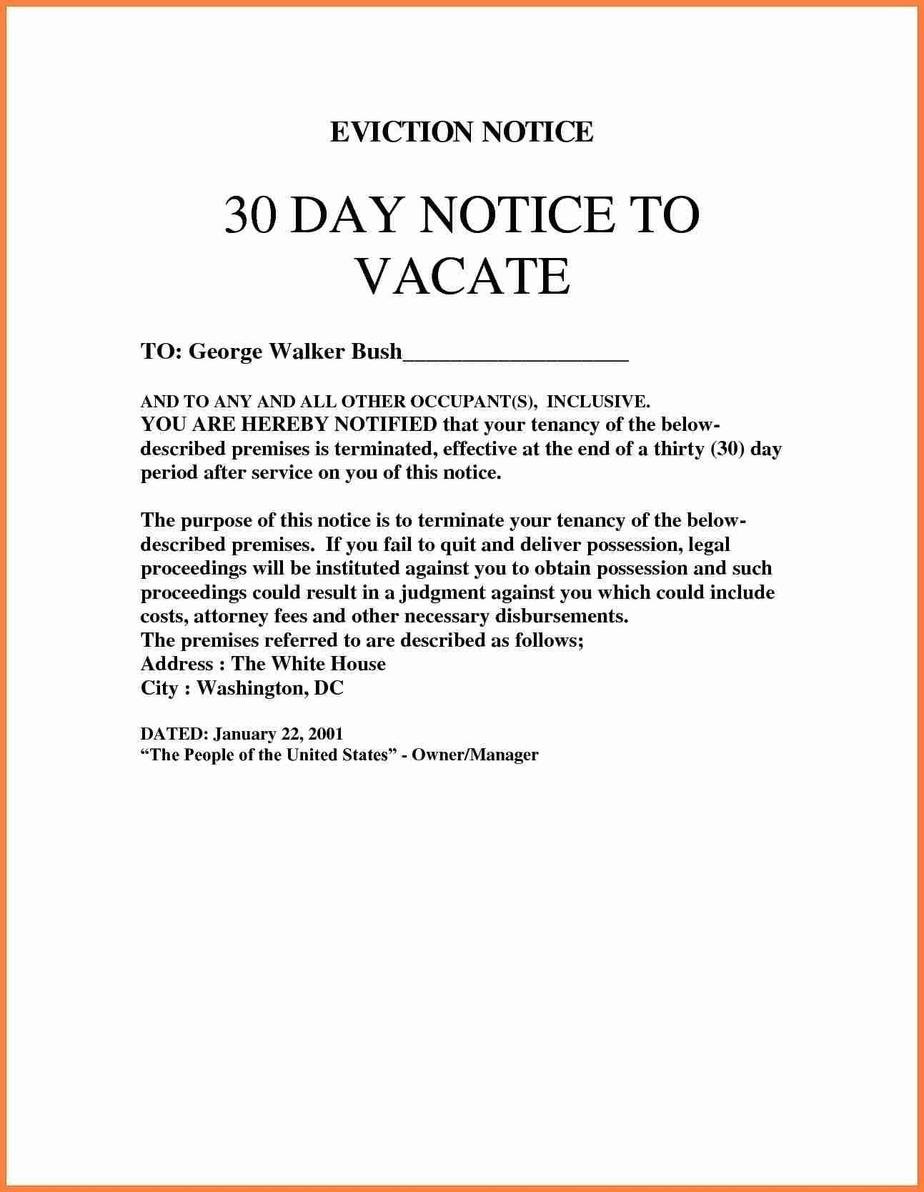Eviction notice template blank eviction notice form