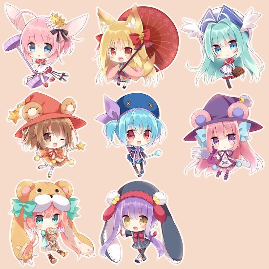 月夜 Anime, Chibi characters, Chibi