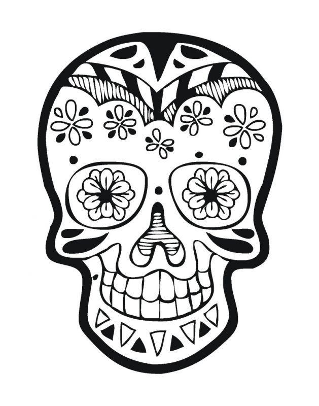 mexicaanse schedel muurstickers design with me