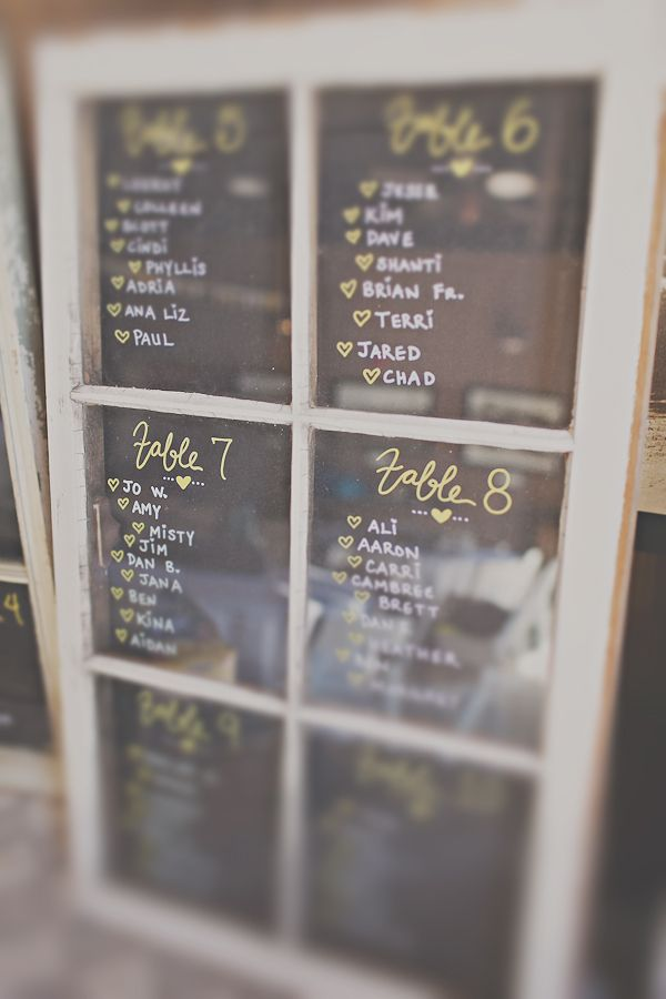 window pane seating chart Tootsie Ties The Knot Pinterest