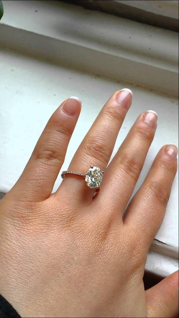 DREAM engagement ring ♡ Blake 10x8 Rose Gold Oval FB Moissanite