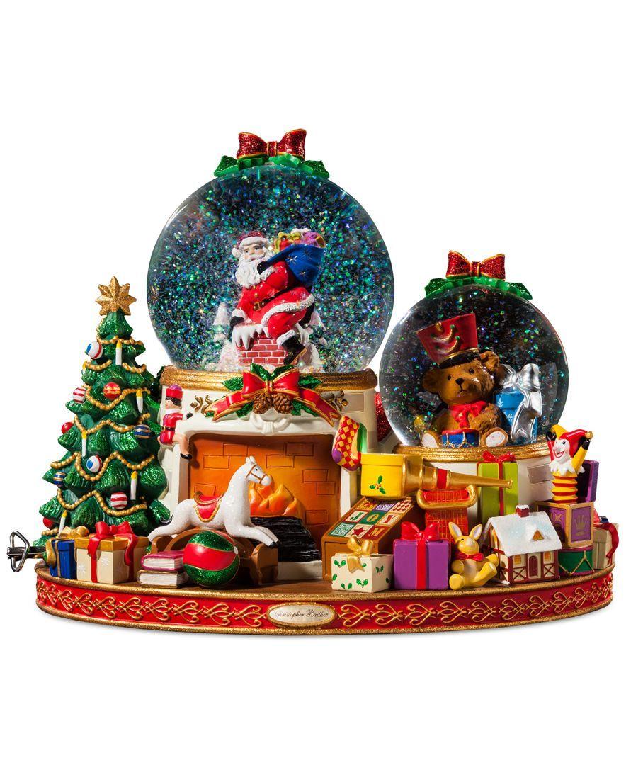 Disney Christmas Snow Globes.Christopher Radko Down The Chimney Snow Globe Let It Snow