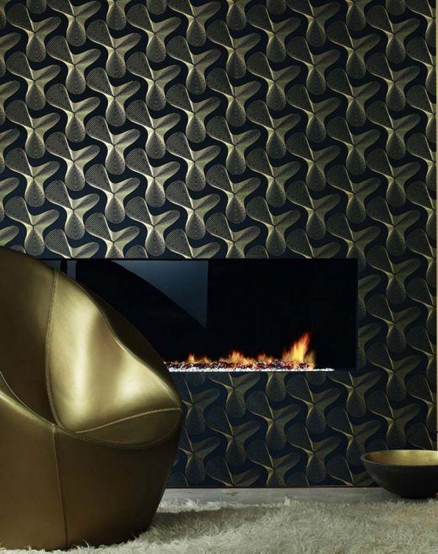 80 Wohnzimmer Tapeten Ideen - Coole, moderne Muster Salon moderne