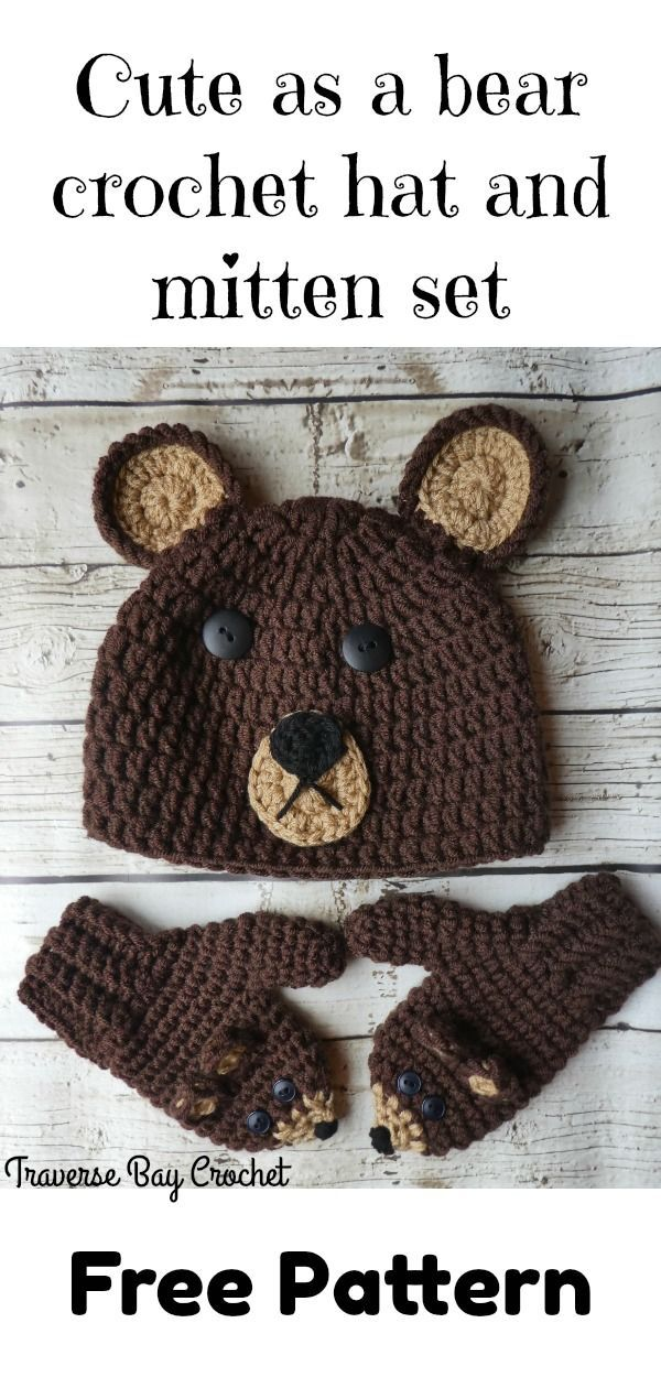 Cute as a Bear crochet hat - #crochetbear