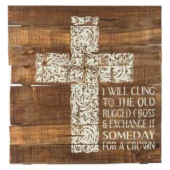 Cling To The Old Rugged Cross Wooden Sign Sybelly73 What Do You Think Of This