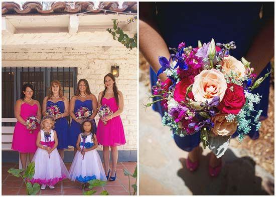 Carissa Austin S Hot Pink And Cobalt Blue Diy Wedding With 1001