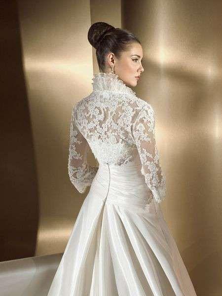 resultado de imagen de vestidos de novia con cuello alto o tipo