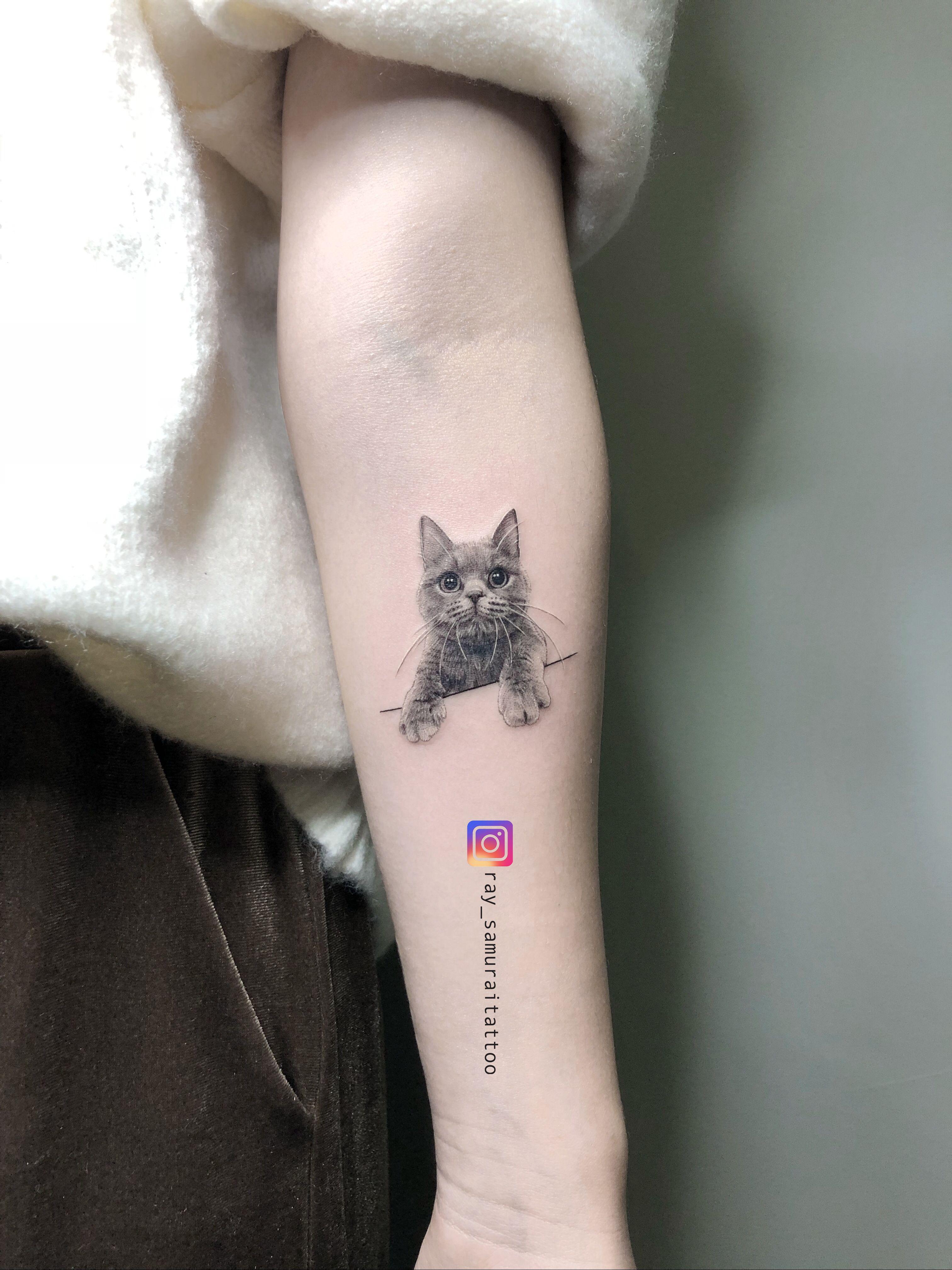 Pin By Tari Hagan On Cat Tattoo Kitten Tattoo