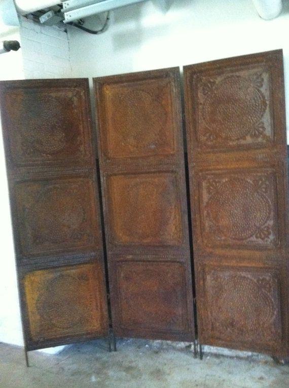Industrial Metal Screen Rusted Vintage Ceiling Tin Room