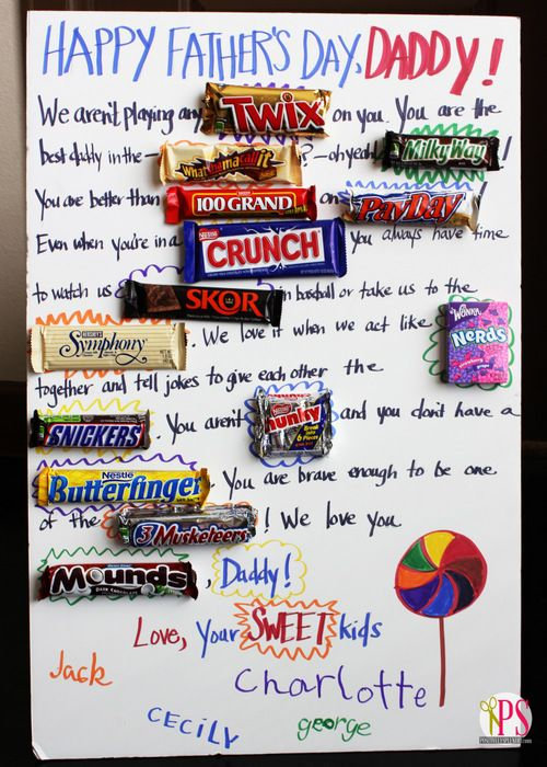 Kids' Candygram Gift Idea | Father's Day | Diy father's ...