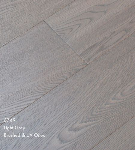 Furlong Majestic Light Grey Stained Engineered Wood Flooring Brushed UV Oiled