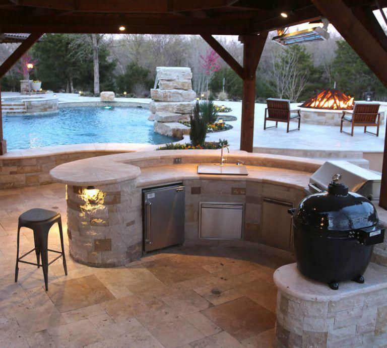 Outdoor Kitchen Frisco Tx Prestige Pool And Patio Throughout Outdoor Kitchen Patio Pergola Ideas For Patio Outdoor Kitchen Kits