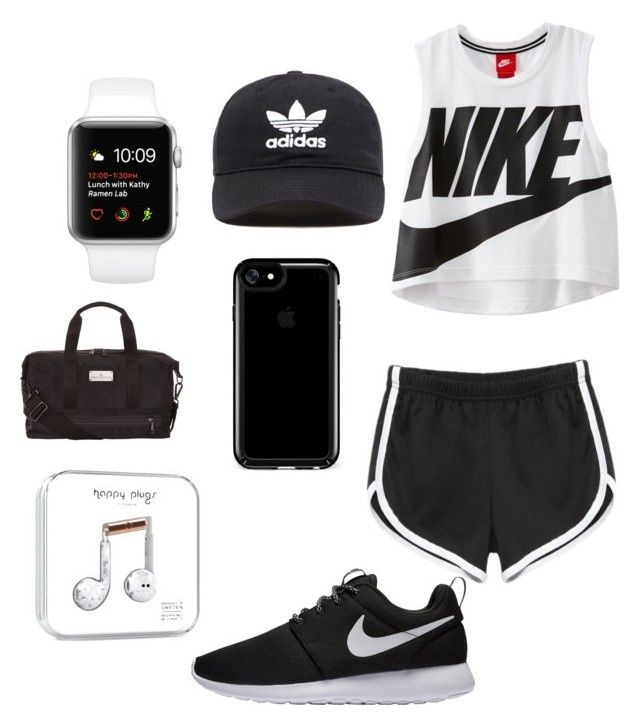 """""""Running or workout outfit"""" by unicorn2006 on Polyvore featuring NIKE, adidas Originals, Speck and adidas"""