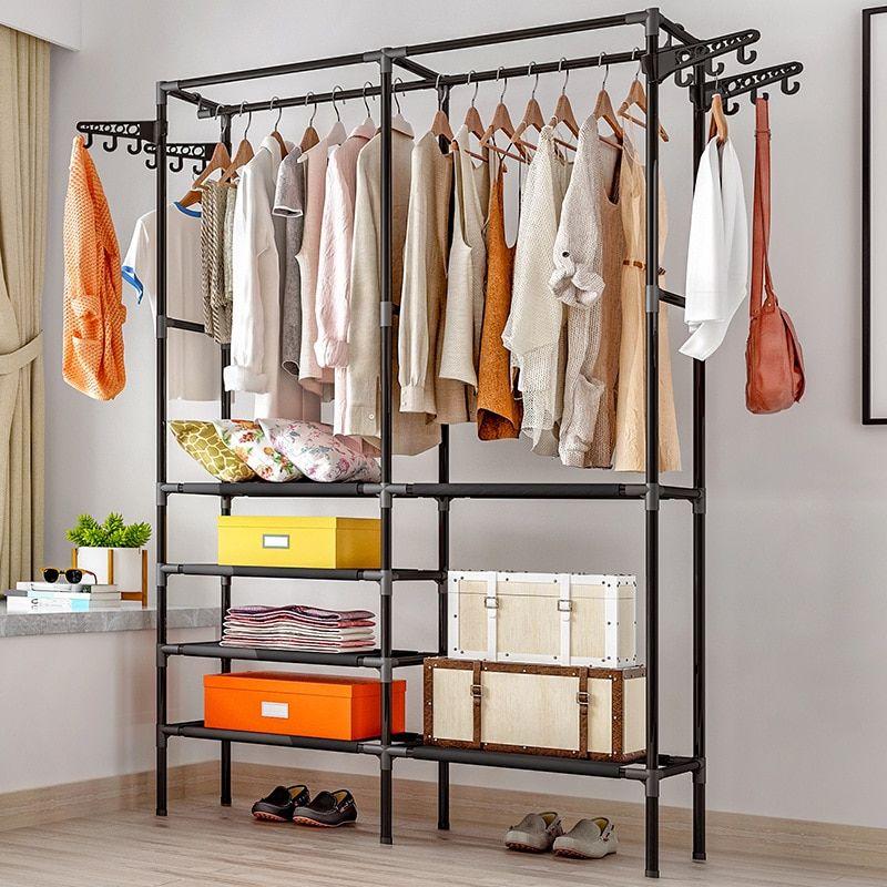 Coat Rack Floor Bedroom Hangers Brief Clothing Iron Rack Household
