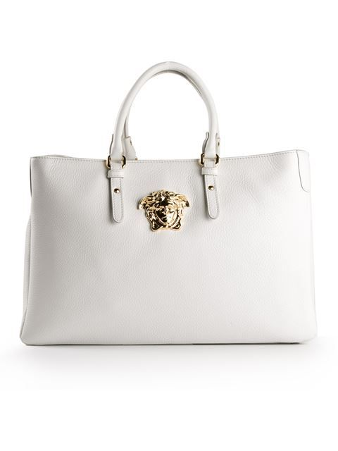 fceb15fdab53 Shop Versace Medusa tote in David Lawrence from the world s best  independent boutiques at farfetch.
