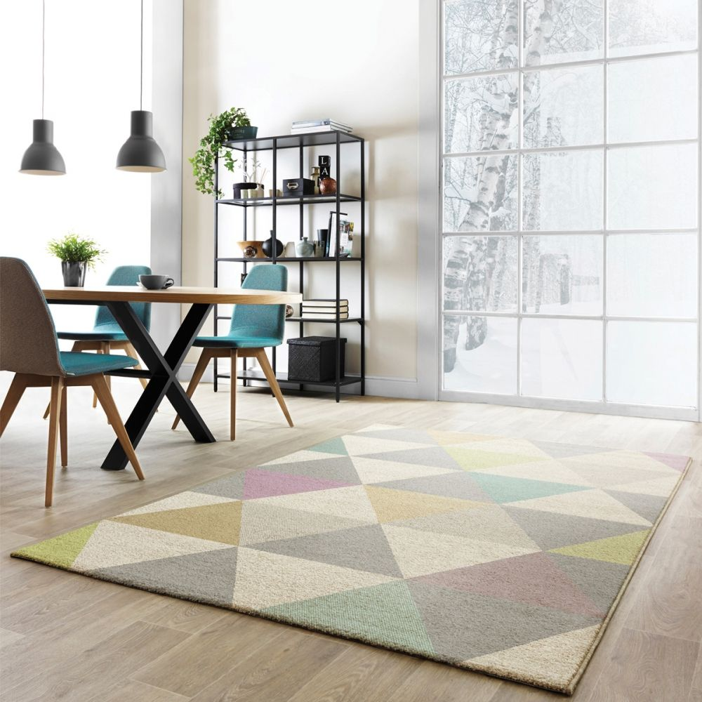 tapis multicolore pastel aux formes g om triques fait en belgique et de grande qualit tapis. Black Bedroom Furniture Sets. Home Design Ideas